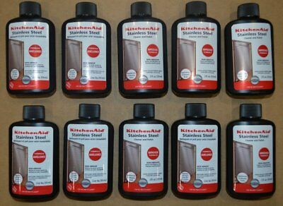 New Lot of 10 Kitchen Aid Stainless Steel Cleaner and Polish 2 oz.