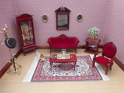 Doll House Furniture~ Job Lot~ Beautiful Lounge Set Complete With Accessories