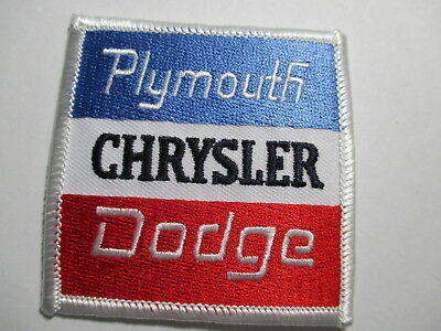 Old Plymouth Chrysler Dodge Patch   2 3/4 x 2 3/4