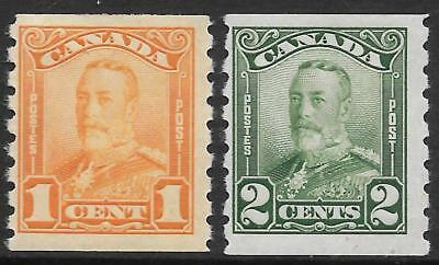 CANADA 1928 imperf*P.8 coil pair, mint hinged. SG 286/287. Cat.£35.