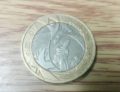 London to Rio Olympic Handover £2 Coin 2012. Circulated. FREE POSTAGE!