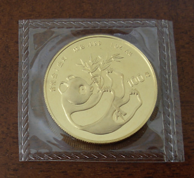 China 1984 Gold 1 oz Panda 100 Yuan Original Mint Sealed BU