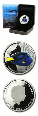 Australia Sealife II The Reef Surgeonfish 50c 2012 1/2 oz Proof Silver Coin Box