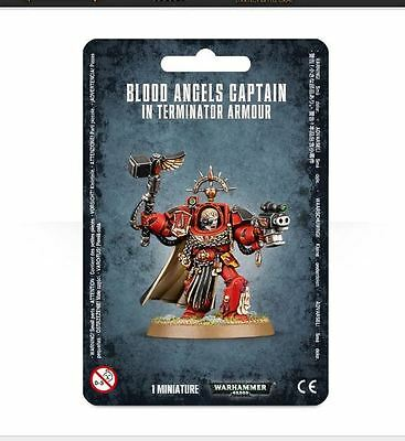 Warhammer 40k Blood Angels Captain in Terminator Armor (Plastic Model)