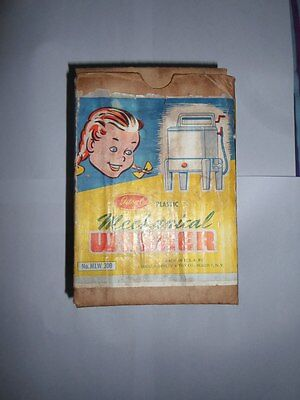 Vintage & Very Rare Ideal Mechanical Washer Plastic Toy Wind Up With Box