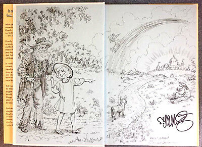 Marvel Oz book with original drawing by Eric Shanower + signed by Skottie Young