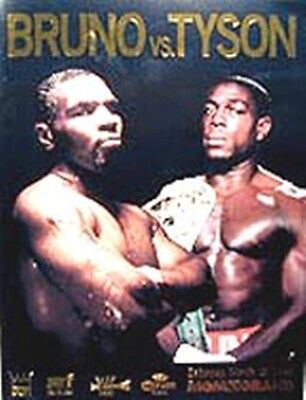 1996 MIKE TYSON vs FRANK BRUNO [II] WORLD TITLE PROGRAMME