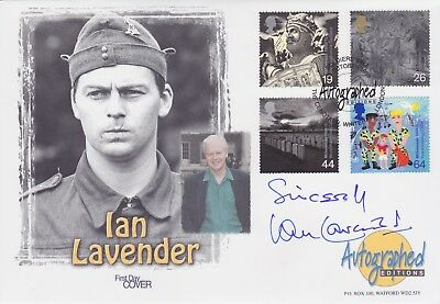 Gb Stamps First Day Cover Signed By Dads Army Pike Ian Lavender