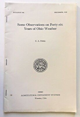 WOOSTER OH Weather Observations for 46 Years Pub. 1934 Snowfall Cloudy Days etc