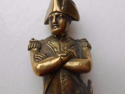 Super Little Antique Quality Brass Bronze Figure Of Napoleon Nice Detail C1900