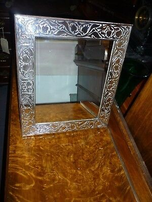 Large 13..5ins High Hallmarked .999 Standard Silver Easel Mirror
