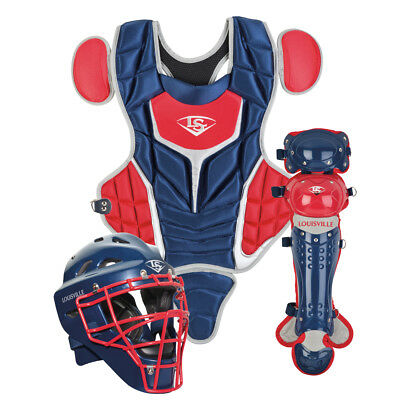 Louisville Slugger PGS514-STY Navy / Red Youth Series 5 3-Piece Catchers Set