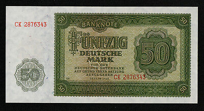 GERMANY DEMOCRATIC REPUBLIC (P14b) 50 Deutsche Mark 1948 aUNC+