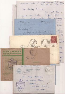 WWII British Letters. 21st Army Group Headquarters. France, Belgium, 1944.