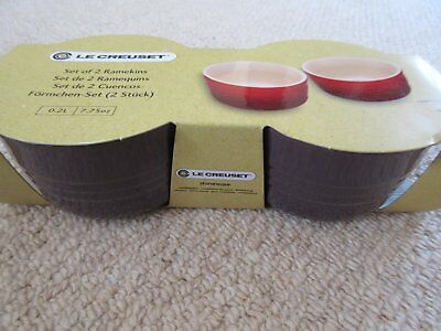 BNWT Le Creuset Set of 2 Ramekin Dishes - Purple