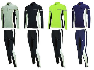 AIRTRACKS Damen Winter Funktions Laufset / Thermo Laufshirt  Lang + Tight Lang