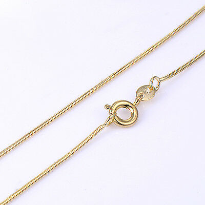 Womens Yellow Gold Plated Wedding Snake Chain Long Necklace Fashion Jewelry
