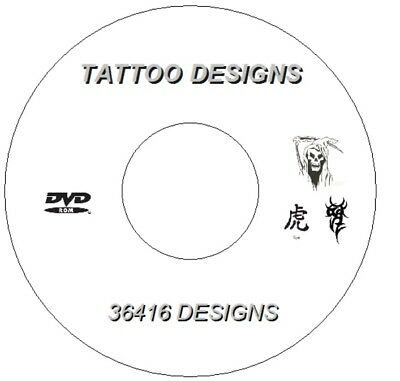 Over 7.7Gb  Dvd 36,416 Flash Designs & Tattoo Books Tribal Japanese Demons