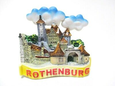 Rothenburg Tauber Souvenir Magnet Altstadt Poly Fridge Germany Deutschland Neu