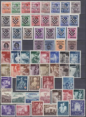 Croatia - Nazi Germany Occupation 1941-1945 Lovely Collection - *mlh*/**mnh**