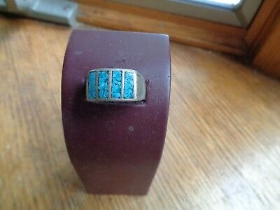 Vintage Man's Turquois and Silver ring  FC