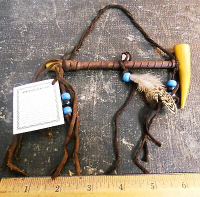 Genuine Small Antler Peace Pipe - Navajo American Indian Made
