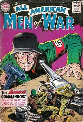 All American Men of War 74 strict VG 4.0 The Minute Commandos Tons just listed