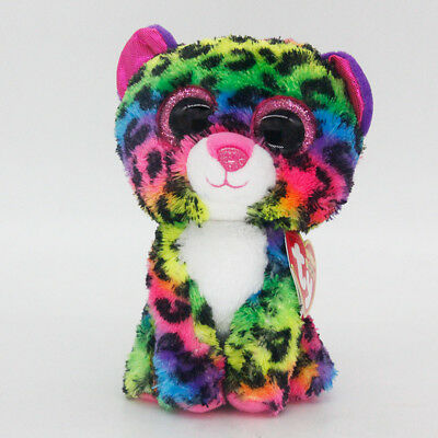 """6"""" Ty Beanie Boos Dotty Multicolor Stuffed Animal Plush Toys Child Gifts A1"""