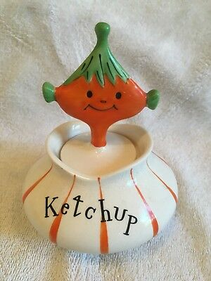 Holt Howard Pixie Pixieware Ketchup Jar With Spoon NR
