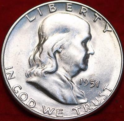 Uncirculated 1951-S San Francisco Mint Silver Franklin Half Free Shipping