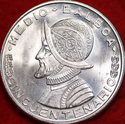 Uncirculated 1953 Panama 1/2 Balboa Silver Foreign Coin Free S/H