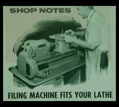 Die Filing Machine Mounts on Metal Lathe How-To build PLANS