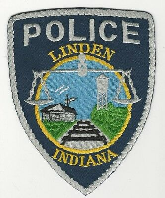 LINDEN Police State of INDIANA IN Shoulder Patch