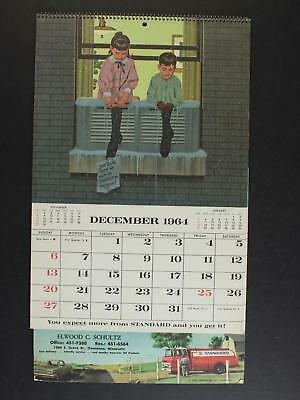 1965 STANDARD OIL COMPLETE CALENDAR~13 Pages