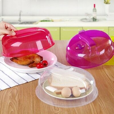 Fridge Microwave Plate Cover Clear Steam Vent Splatter Lid 10 inch Food Dish