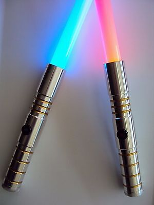 ultrasabers initiate le v2 lightsaber hilt blazing x1 red x 1 blue