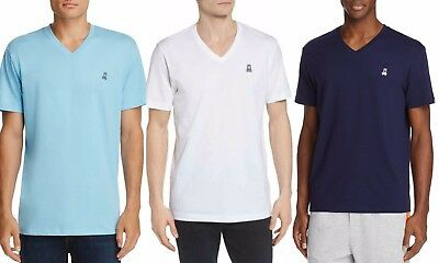 Psycho Bunny Men's Short Sleeve Classic Embroidered V-Neck Cotton Blend T-Shirt