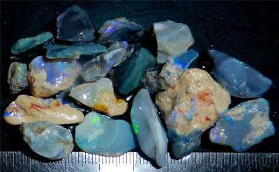 100 Cts #987 Opal Rough And Rough Rubs From Lightning Ridge Australia