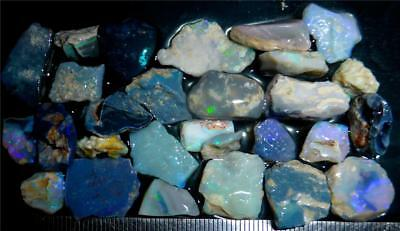 100 Cts #989 Opal Rough And Rough Rubs From Lightning Ridge Australia