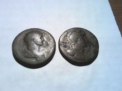 2 Unresearched Roman Sestertius hoard coins