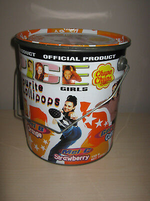 Spice Girls Chupa Chups Point of Sale Metal Official Tin Container 1990s
