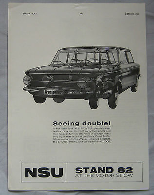 1963 NSU Prinz Original advert