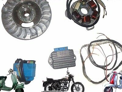 Lambretta 12V Electronic Ignition Kit Gp Dl Small Cone Type+Wiring  @cad