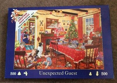Unexpected Guest Christmas Jigsaw 500 Piece House Of Puzzles Tracy Hall Puzzle