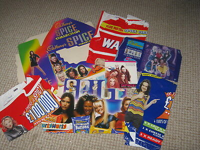 Spice Girls - Vintage 1990s Selection of Collectable Promotional Packaging Items