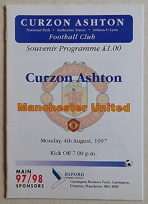 CURZON ASHTON  Vs MANCHESTER UNITED - 4 August 1997 - Friendly