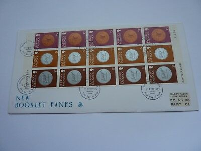 Guernsey New Booklet Panes 1982 (02) FDC