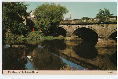 (P2625) Chapel on the Bridge, Derby. Vintage Dennis Photocolour Postcard