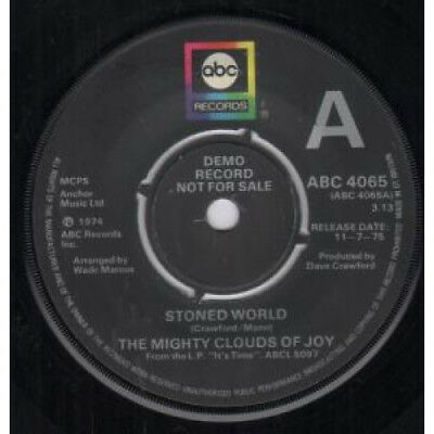 """MIGHTY CLOUDS OF JOY Stoned World 7"""" VINYL Demo B/w Heart Full Of Love (abc406"""
