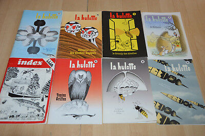 lot 8 magazines La HULOTTE : 71 72 76 77 91 92 94 + Index des 60 premiers n°
